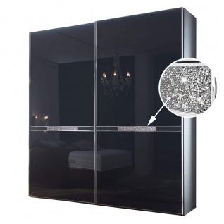 Staud Tesoro Schwebetürenschrank verziert mit Kristallen Korpus Dekor Front Glas oder Kristallspiegel Schrankbreite- und Höhe wählbar