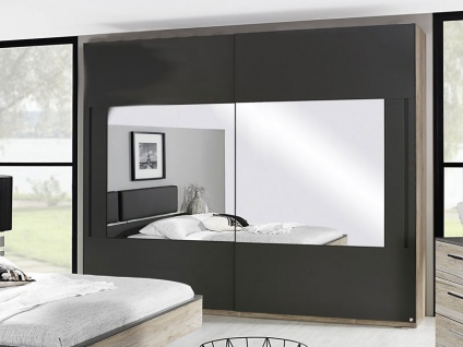 Rauch Schwebetürenschrank Colette Dialog Kleiderschrank mit Spiegel ohne Beleuchtung für Schlafzimmer - Größe und Front / Korpus wählbar