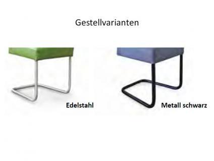 Standard Furniture Schwingstuhl Kadira mit Komfort-Kaltschaumsitz Polsterstuhl für Wohnzimmer oder Esszimmer Gestellausführung und Bezug wählbar - Vorschau 2
