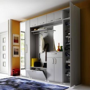 Wittenbreder Roubaix Vorschlagskombination Nr. 02 komplette Garderobe für Ihren Flur und Eingangsbereich 8-teiliges Garderoben-Set im Dekor Grau matt - Vorschau 2