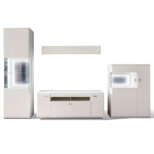 MCA furniture Wohnwand 1 Amora Art.Nr. AMO83W01 Front weiß matt tiefzieh Nachbildung Korpus weiß matt Melamin Nachbildung Beleuchtung optional