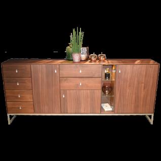 Dkk Klose Kollektion Kastenmöbelprogramm K32-1 Sideboard mit 6 Schubkästen 3 Holztüren und einer Glastür Holzart und Fußausführung wählbar