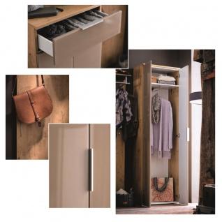 Wittenbreder Stelvio Garderobenkombination Nr. 10 komplette Garderobe für Ihren Flur und Eingangsbereich 4-teilige Vorschlagskombination im Dekor Wildeiche und Hellbraun Glas und Karamell Dekor - Vorschau 2