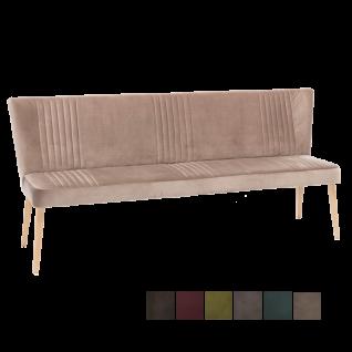 Standard Furniture Polsterbank Jennifer mit Rückenlehne Küchensofa für Wohnzimmer oder Esszimmer mit Wellenfederung und Ziernähten