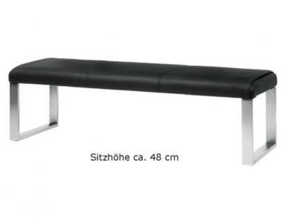 MWA Aktuell Como Sitzbank in Kunstleder oder Echtleder wählbar Bank wahlweise mit oder ohne Rückenlehne Größe wählbar - Vorschau 4