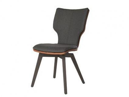 Bert Plantagie Stuhl Joni Wood Komfort 715C mit Bi_Color-Mattenpolsterung Polsterstuhl für Esszimmer Speisezimmerstuhl ohne Armlehnen Gestellausführung Naht Reißverschlußfarbe und Bezug wählbar