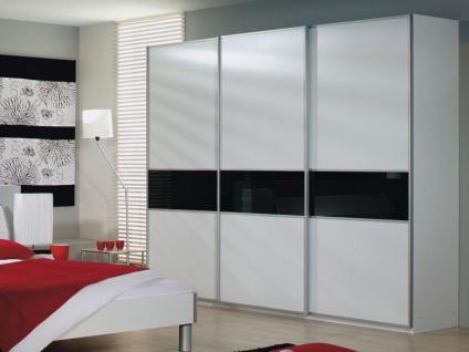 Rauch Packs Linea Ausführung B - Schwebetürenschrank, Dekor wählbar, Teilfront als Glas- Spiegelauflage wählbar, in verschiedenen Größen erhältlich.