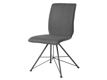 Bert Plantagie Stuhl Tara Spin 813 mit Uni-Polsterung Polsterstuhl für Esszimmer Esszimmerstuhl Gestellausführung und Bezug in Leder oder Stoff wählbar