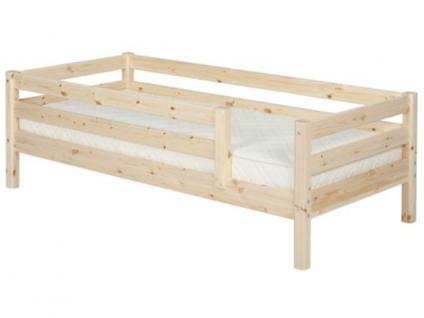 Kinderbett Flexa Classic Einzelbett 90x200 cm mit 3/4 Absturzsicherung und hinterer Absturzsicherung Kiefer massiv Flexa4Dreams