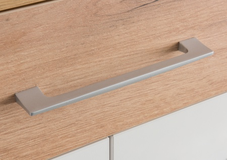 Germania Topix Schuhschrank 3770-513 mit zwei Türen und einem Schubkasten Dekor Weiß mit Absetzung Eiche Nachbildung Platz für 20 Paar Schuhe - Vorschau 5