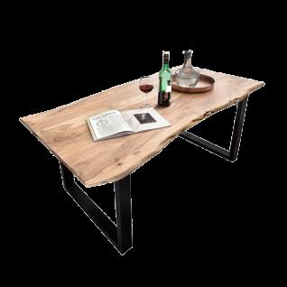 Sit Möbel Esstisch ca. 140 x 80 cm Tischplatte Baumkante natur Akazie Gestell Stahl schwarz