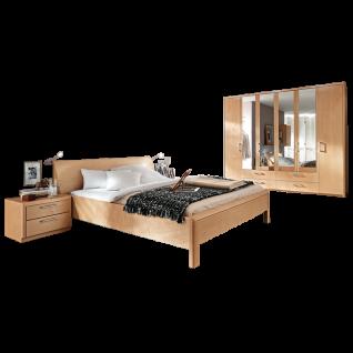 Disselkamp Coretta Schlafzimmer Doppelbett Nachtkonsolen Drehtürenschrank mit Spiegeltüren Front und Korpus wählbar