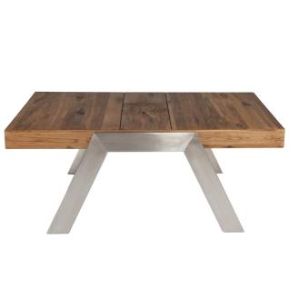 Vierhaus Couchtisch 0279-WEI Wildeiche Massivholz Antik mit Gebrauchsspuren mit Intarsienverlegung für Ihren Wohn- und Essbereich