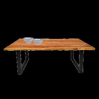 Sit Möbel Esstisch ca. 120x 80 cm Tischplatte aus Akazienholz natur im Antikfinish Gestell schwarz