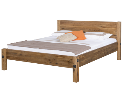 Neue Modular Punto Bolivia Bett aus Massivholz Sumpfeiche natur geölt inklusive Längstraverse Liegefläche ca. 180x200 cm