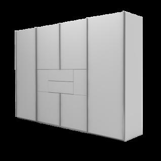Nolte Möbel Marcato 2.1 Schwebetüren-Panoramaschrank 4-türig Ausführung 1 ohne Sprossen mit Synchronbeschlag und 2 Schubkästen Schrankgröße und Farbausführung frei konfigurierbar