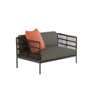 Niehoff Garden Azuri Loungesessel G159-100-052 Einzelsessel mit Kordelflechtung Gestell in Aluminium Anthrazit und inkl. Sitz- und Rückenkissen in Stoff basalt für Ihren Garten oder Terrasse - Vorschau 1