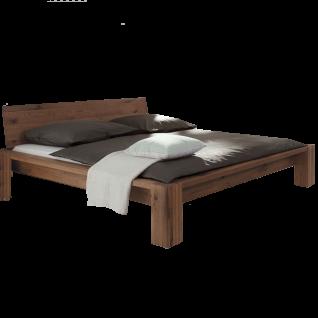 Hasena Oak-Wild Bett bestehend aus Bettrahmen Cortina 18 Holzbettfüße Cobo und Holzkopfteil Sion in Wildeiche coffee gebürstet geölt Liegefläche ca. 180x200 cm