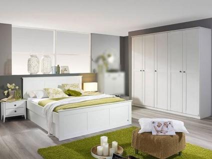Rauch Packs Rosenheim Schlafzimmer, Drehtürenschrank, Bett wahlweise mit Nachttische, Schubkästen, Front und Korpus in alpinweiß
