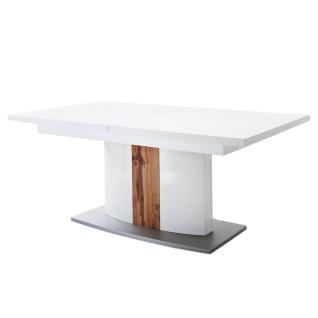 MCA Furniture Livorno LIV99T60 Esstisch für Ihr Esszimmer weiß melamin Nachbildung Säule mit Absetzung Wotan Eiche ausziehbar mit Synchronauszug - Vorschau 1