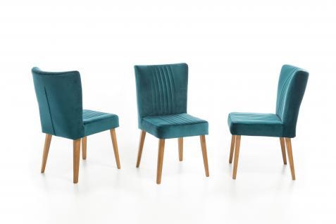Standard Furniture Polsterstuhl Jan für Wohnzimmer oder Esszimmer Ziernähten Gestell und Bezug wählbar