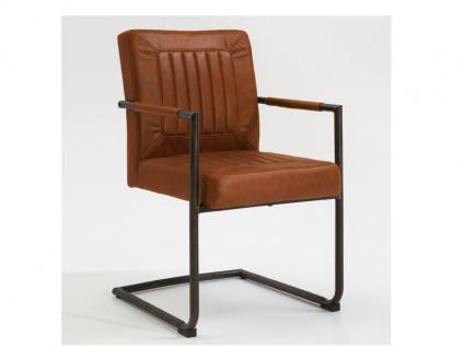 Niehoff Schwingstuhl Lopez 2392 Armlehne Sessel Linea Vintage Baskerville Sessel in Bezug in Soft Micro-Vintage maron