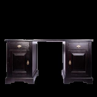 Sit Möbel SAMBA Schreibtisch mit Türen aus Akazienholz massiv im Antikfinish