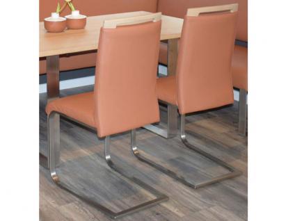 Klose Schwingstuhl S59 Freischwinger 2241 Stuhl für Wohnzimmer und Esszimmer Gestell Flachrohr in Chrom oder Edelstahl und Bezug in vielen Stoffen und Echtleder wählbar - Vorschau 2