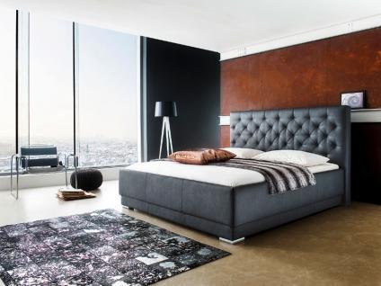 Meise Möbel Pisa Polsterbett mit Kunstlederbezug Maxim in schwarz oder weiß