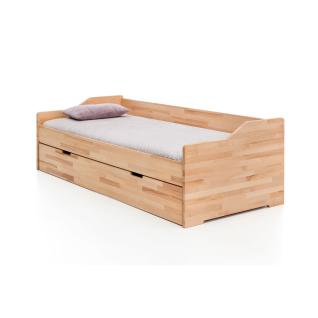 Woodlive Gästebett Lea in Kernbuche Massivholz natur geölt oder weiß lackiert für Ihr Schlafzimmer Gästezimmer oder Kinderzimmer
