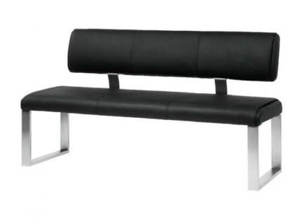 MWA Aktuell Como Sitzbank in Kunstleder oder Echtleder wählbar Bank wahlweise mit oder ohne Rückenlehne Größe wählbar - Vorschau 3