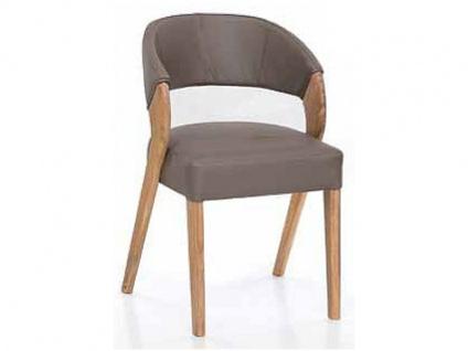 Standard Furniture Stuhl Almada 1 Polsterstuhl mit Massivholzgestell Stuhl Almada mit hochwertigen Kaltschaum für Esszimmer oder Küche in drei Holzausführungen Bezug wählbar
