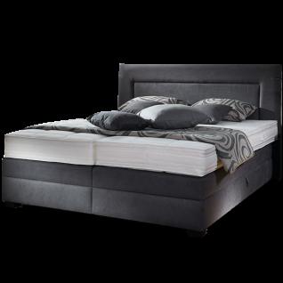 Oschmann Belcanto Averi Boxspringbett mit Bettkastenfunktion Queröffnung und Obermatratze MA 222 mit integrierten Topper Liegefläche Kopfteil und Fußtypen wählbar große Stoffauswahl
