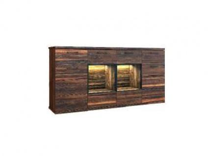 Dkk Klose Kollektion K24 Kastenmöbel Sideboard 4tlg. Kommode für Wohnzimmer oder Esszimmer Ausführung und Beleuchtung wählbar