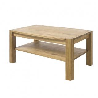 MCA Furniture Couchtisch Kalipso 58783AE7 aus Asteiche Massivholz geölt durchgehende Lamelle bei Tischplatte und Stollen für Ihr Wohnzimmer