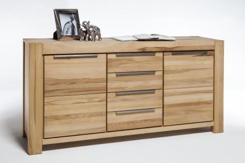 Elfo-Möbel Nena Sideboard 6658 in Kernbuche Massivholz geölt Kommode mit 2 Türen und 4 Schubkästen stilvolle Anrichte für Wohnzimmer oder Esszimmer