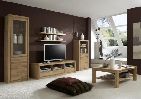 Elfo-Möbel Delft Vitrine 6203 mit 1 Schubkasten 1 Tür und 1 Glastür Massivholz in Kernbuche Beimöbel für Wohnzimmer Esszimmer oder Arbeitszimmer - Vorschau 2