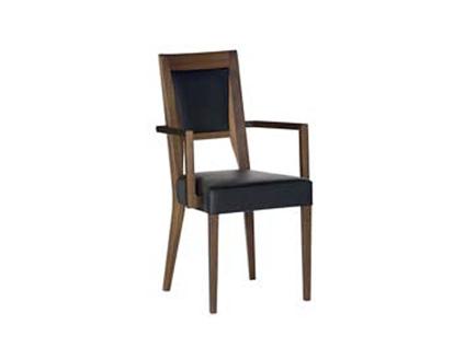 DKK Klose Polstersessel S15 mit Armlehnen für Wohnzimmer oder Küche wählbarer Holzton Sitz und Rücken in modischen Stoffbezügen