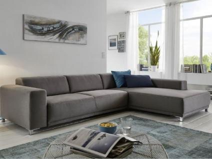 Candy Wohnlandschaft Ecksofa Sofa Lorenzo für Wohnzimmer Bezug Stoff oder Leder wählbar