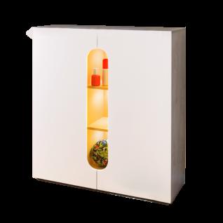 Rudolf Möbel Max-i Kommode mit 2 Türen und 1 Einsatz Farbausführung wählbar optional mit LED-Einbaustrahler