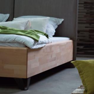 Dico Möbel Massivholzbett Massiva in Kernbuche geölt mit Polsterkopfteil Liegefläche wählbar optional mit Nachttisch - Vorschau 5