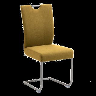 Niehoff Schwingstuhl mit Griff Dillan 3061 Bezug kiwi grün Edelstahlgestell
