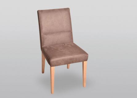 K+W Silaxx 6057 Stuhl hochwertiger 4-Fuß-Massivholzstuhl mit oder ohne Armlehne in Stoff oder Echtleder wählbar