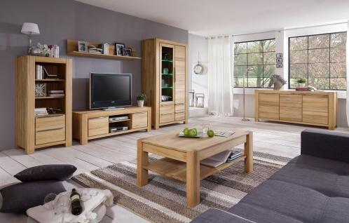 Elfo-Möbel Nena Sideboard 6658 in Kernbuche Massivholz geölt Kommode mit 2 Türen und 4 Schubkästen stilvolle Anrichte für Wohnzimmer oder Esszimmer - Vorschau 3