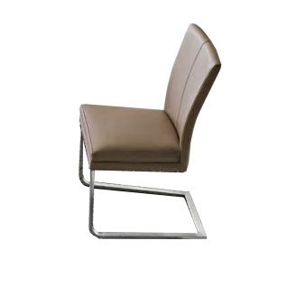 Niehoff Linea Dining Time Stuhlsystem Stuhl mit Flachstahl Edelstahlgestell Sitzpolster in verschiedenen Farben wählbar Griff und Armlehne wählbar ideal für Ihr Esszimmer