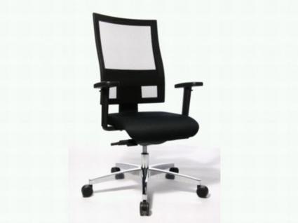 TopStar Profi Net 11 Drehstuhl schwarz höhenverstellbar mit Armlehne atmungsaktiver Netzrückenlehne