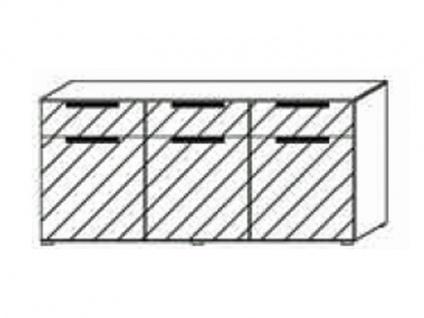 Kommode mit 3 Türen und 3 Schubkästen, Front Dekor matt