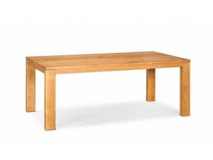 DKK Klose Esstisch T81 Massivholz Tischsystem TwentyTwenty mit fester Platte oder Auszugsfunktion in wählbaren Größen sowie Holzfarbtönen für Essbereich oder Küche