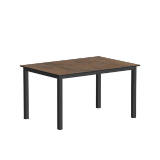 Niehoff Garden Nelson Gartentisch G563 mit HPL-Tischplatte in wählbarer Farbe und Vierfußgestell in Aluminium pulverbeschichtet Anthrazit für Ihren Garten Größe wählbar