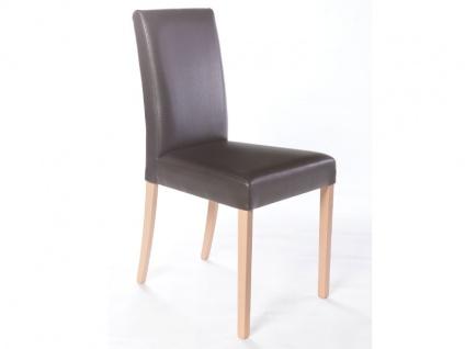 Standard furniture Polsterstuhl Ivonne Bezug Galant braun Gestell Buche natur Stuhl für Esszimmer oder Wohnzimmer